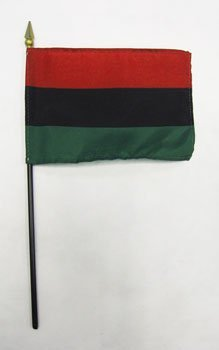 4x6 african american stick flag 7643