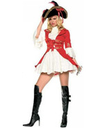 Sexy Lady Patriot or Pirate Captain Hook Overcoat Mini Dress Costume Red... - $69.99