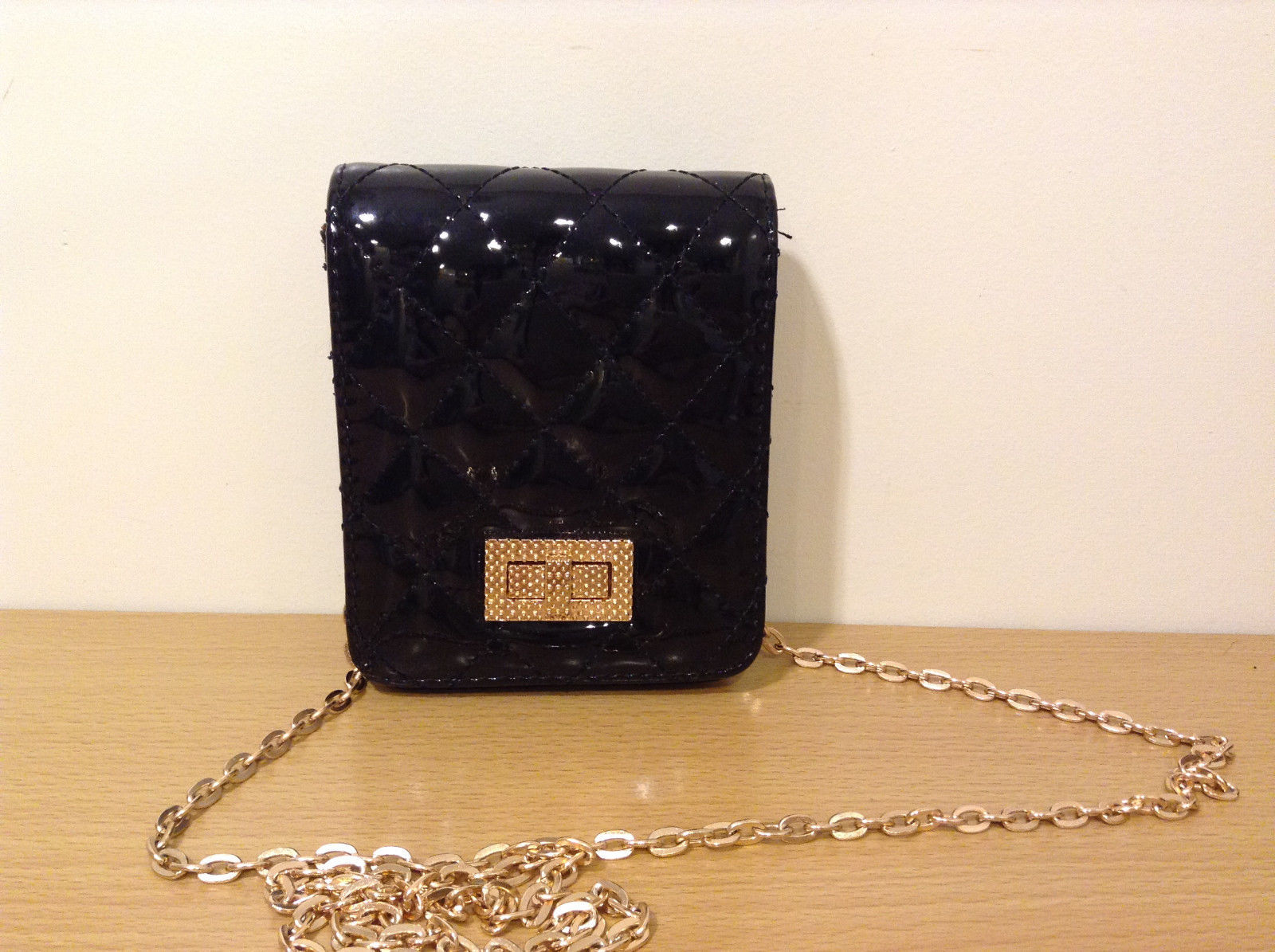 NWT Black Quilted Small Evening Handbag Purse Shoulder Bag or Wallet by MAD