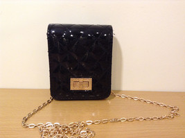 NWT Black Quilted Small Evening Handbag Purse Shoulder Bag or Wallet by MAD - $24.74