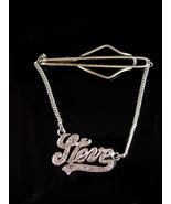 Steve sterling tie clip Vintage Gotham silver marcasite personalized Art... - $225.00