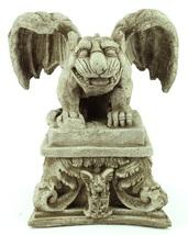 Gargoyle on Pedestal Concrete Ornamental Statue - $192.00