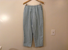Alfred Dunner Women's Size 14 Corduroy Pants Light Powder Blue Elastic Waist