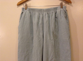 Alfred Dunner Women's Size 14 Corduroy Pants Light Powder Blue Elastic Waist image 2