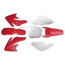 Lumix GC Red White Plastic Fairing Fender Kit Panels For Honda CRF70 Dirt Pit... - $57.95
