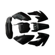 Lumix GC Black Plastic Fairing Fender Kit Panels For Honda CRF70 Dirt Pit Bikes - $47.95