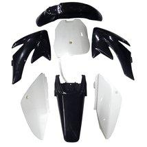 Lumix GC Black White Plastic Fairing Fender Kit Panels For Honda CRF70 Dirt P... - $59.95