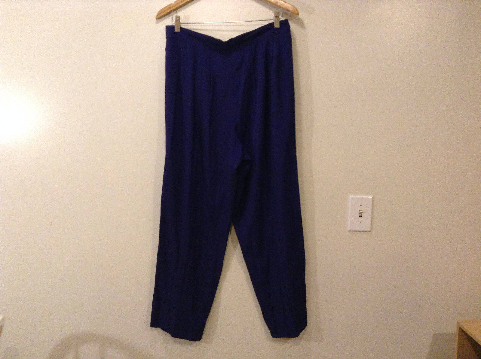 Alfred Dunner Women's Size 16 Casual Lounge Pants Purple Pleated Elastic Waist