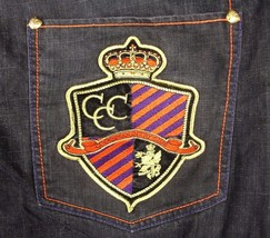 Coogi Country Club Denim Jeans Crown Shield Embroidered W 51 x L 34 VGUC - $47.98