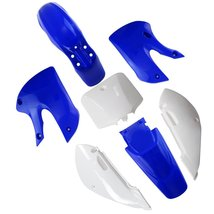 Lumix GC Blue White Plastic Fairing Fender Kit For Suzuki DRZ110 ( 2002 - 200... - $53.95