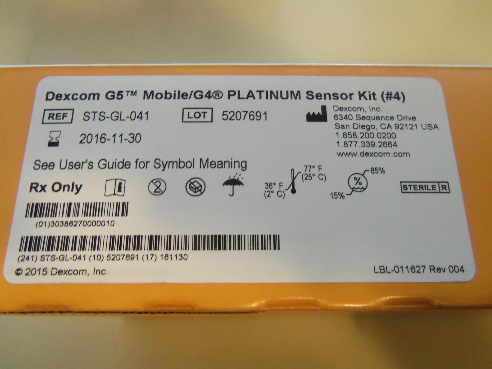 Dexcom G5 Mobile G4 Platinum Sensor Kit And 46 Similar Items