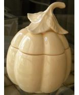Vintage Pumpkin Gourd Shaped Ceramic Jar with Lid - $28.00