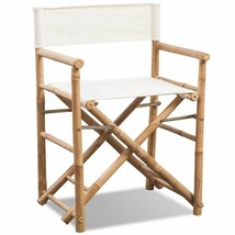 vidaXL Folding Director's Chair Bamboo Patio Garden Outdoor Deck Sunlounger - $78.99