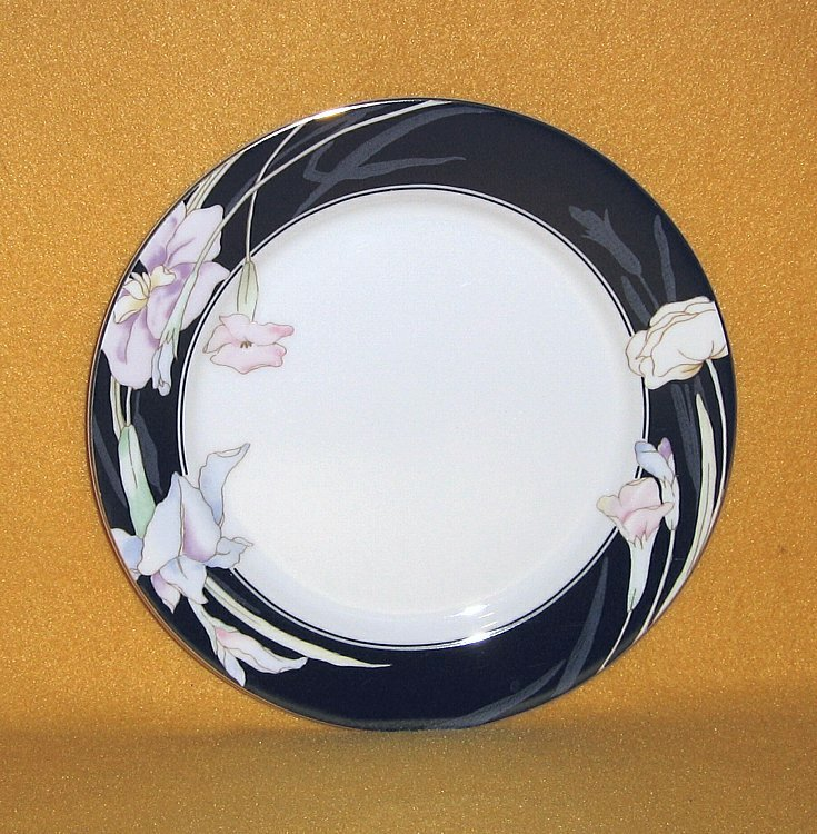 Mikasa Charisma Black L9050 3 Salad Plates