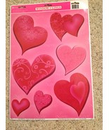 Static Window Clings New Valentine's Day Red Pink Hearts 7 Decals - $8.74