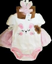 Baby Girl 3-Piece Dress Me Up Set - Bodysuit, Skirt, and Headband 6M