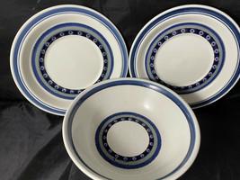 Royal Doulton Tangier LS 1005 Lambeth Stoneware England Bowl & 2 Saucers - $32.00