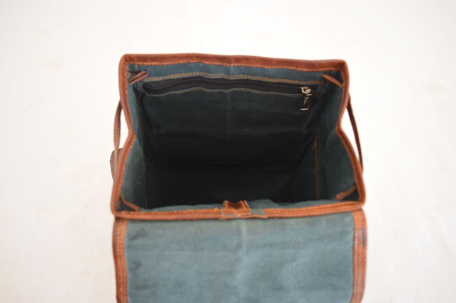 """11"""" High Handmade Real Brown Leather Backpack Shoulder Bag Rucksack Hiking Bag image 12"""