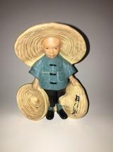 McCarty Bros California Pottery Asian Boy  Plan... - $17.82