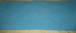 Vtg.  Aqua Woven Twin Double Bed Cotton Bedspread - $48.50