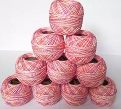 10 Cotton Yarn-1320 Multi Color-Tatting-Crochet Lace Knitting Thread Siz... - ₹986.06 INR