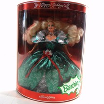 Happy Holidays Barbie NRFB Sealed Box Mattel Special Edition 1995 Glitte... - $39.99