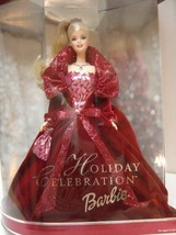 2002 HOLIDAY BARBIE DOLL dressed in Dark Red Gown NRFB - $34.64