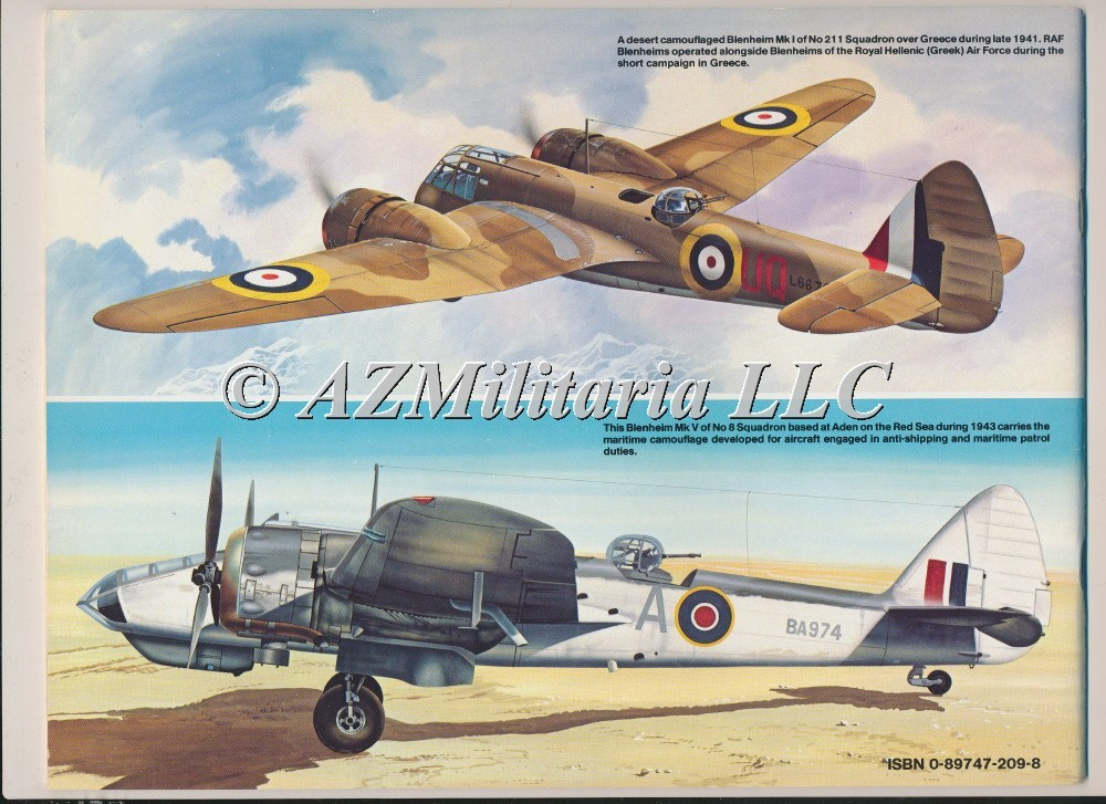 Bristol Blenheim In Action Aircraft No. 88