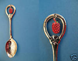 ABBOTSFORD BC. Souvenir Collector Spoon Collectible RASPBERRY Fruit Charm  - $4.95