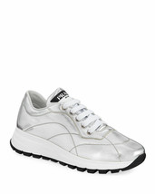 Prada Quilted Leather Trainer Sneakers Size 36 MSRP: $750.00 - $395.99