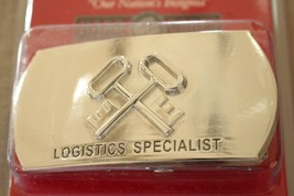 Usn Us Navy Uss Ship Shore Air Logistics Specialist Rate Specialty Belt Buckle - $24.70