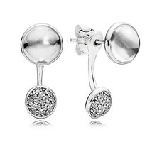 925 Sterling Silver Dazzling Poetic Droplets with Clear CZ Earrings QJCB999 - $23.99