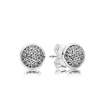 925 Sterling Silver Dazzling Droplets with Clear CZ Stud Earrings QJCB1002 - $20.88