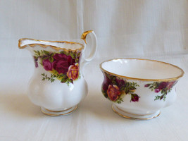 Royal Albert England Bone China Old Country Roses Creamer & open sugar b... - $84.15