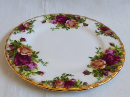 Royal Albert England Bone China Old Country Roses bread & butter dessert... - $29.70