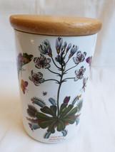 "Portmerion Botanic Garden 8"" Canister Jar Dionaea Muscipula  sealed Wood... - $64.35"