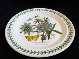 "Portmeirion BOTANIC GARDEN Blue Passion Flower Dinner Plate 10.5"" England - $61.38"
