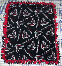 "Atlanta Falcons  Baby Blanket Fleece Pet Lap Red Black 30""x 24"" NFL Foot... - $39.95"
