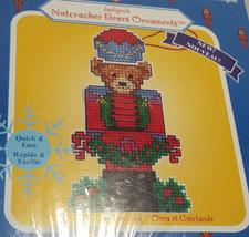 Janlynn Nutcracker Bears Ornament Counted Cross Stitch Kit Bear & Garland Xmas - $9.94