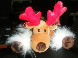 Adorable Commonwealth Stuffed Reindeer Hanging Ornament - $12.86