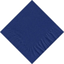 50 Plain Solid Colors Luncheon Dinner Napkins Paper - Navy Blue - $3.65