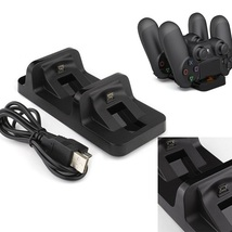(2 Pack) Dual USB Charging Dock Station Stand for Sony PlayStation 4 - $14.85