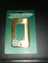 Creative Accents Brushed Brass Steel Rocker Wall Plate Cover #2BB117 - $6.92