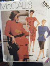 McCall's 2801 Misses Peplum Top & Skirt Pattern - Size 16 Bust 38 - $10.69