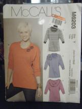 McCall's M6203 Misses Tunics Pattern - Size XS/S/M - $6.92