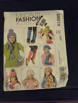 McCall's M6213 Girl's Leg Warmers, Hats, Scarves, Fingerless Gloves Pattern - £4.09 GBP