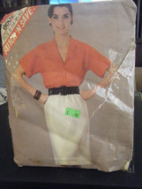 McCall's Stitch'n Save 8602 Misses Top & Skirt Pattern - Size 14/16/18 - $5.35
