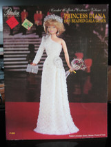 Paradise  Pub. #P-065 Crochet Princess Diana 1985 Beaded Gala Gown For Doll - $11.87