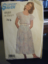 Simplicity 8581 Misses Top & Skirt Pattern - Size 12/14/16 - $6.24