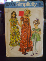 Simplicity 9389 Girl's Dress in 2 Lengths Pattern - Size 6 Chest 25 - $9.89